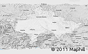 Silver Style Panoramic Map of Kosovo