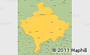 Savanna Style Simple Map of Kosovo