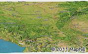 Satellite Panoramic Map of Serbia and Montenegro