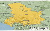 Savanna Style Panoramic Map of Serbia and Montenegro
