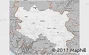 Gray 3D Map of Srbija