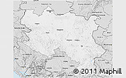 Silver Style 3D Map of Srbija