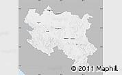 Gray Map of Srbija, single color outside
