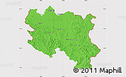 Political Map of Srbija, cropped outside