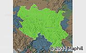 Political Map of Srbija, darken, semi-desaturated