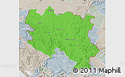 Political Map of Srbija, lighten, semi-desaturated