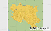 Savanna Style Map of Srbija, single color outside