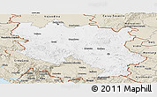 Classic Style Panoramic Map of Srbija