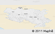 Classic Style Panoramic Map of Srbija, single color outside