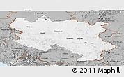Gray Panoramic Map of Srbija