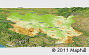 Physical Panoramic Map of Srbija, satellite outside