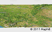 Satellite Panoramic Map of Srbija