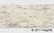 Shaded Relief Panoramic Map of Srbija