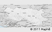 Silver Style Panoramic Map of Srbija
