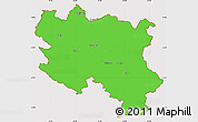 Political Simple Map of Srbija, cropped outside