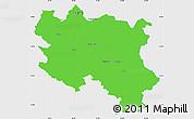 Political Simple Map of Srbija, single color outside