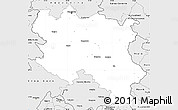 Silver Style Simple Map of Srbija