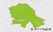 Physical Map of Vojvodina, cropped outside