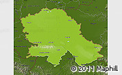 Physical Map of Vojvodina, darken