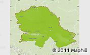 Physical Map of Vojvodina, lighten