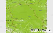 Physical Map of Vojvodina