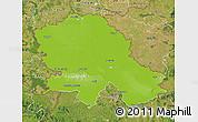 Physical Map of Vojvodina, satellite outside