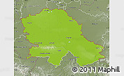 Physical Map of Vojvodina, semi-desaturated