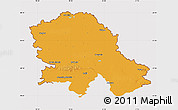 Political Map of Vojvodina, cropped outside