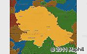Political Map of Vojvodina, darken