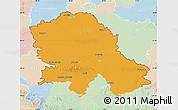 Political Map of Vojvodina, lighten