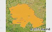 Political Map of Vojvodina, satellite outside