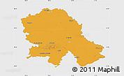 Political Map of Vojvodina, single color outside