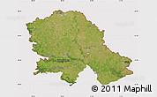Satellite Map of Vojvodina, cropped outside