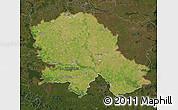 Satellite Map of Vojvodina, darken