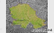 Satellite Map of Vojvodina, desaturated