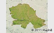 Satellite Map of Vojvodina, lighten
