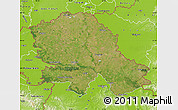 Satellite Map of Vojvodina, physical outside