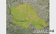 Satellite Map of Vojvodina, semi-desaturated