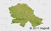 Satellite Map of Vojvodina, single color outside