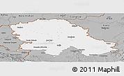 Gray Panoramic Map of Vojvodina