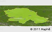 Physical Panoramic Map of Vojvodina, darken