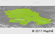 Physical Panoramic Map of Vojvodina, desaturated