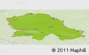 Physical Panoramic Map of Vojvodina, lighten