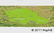 Physical Panoramic Map of Vojvodina, satellite outside