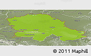 Physical Panoramic Map of Vojvodina, semi-desaturated