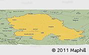 Savanna Style Panoramic Map of Vojvodina