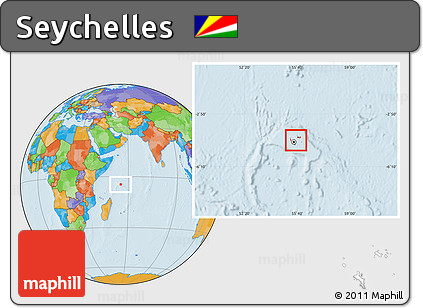 Free Political Location Map Of Seychelles