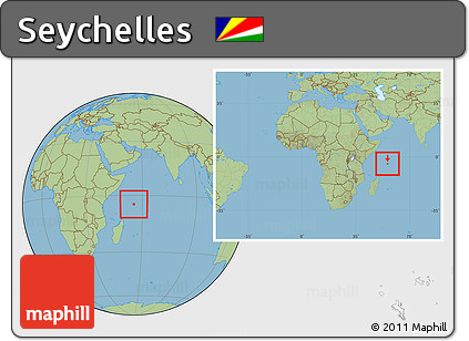 Free Savanna Style Location Map Of Seychelles Within The