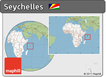 Free Savanna Style Location Map Of Seychelles Highlighted