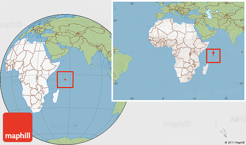 Savanna Style Location Map Of Seychelles Highlighted